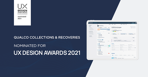 QUALCO Collections & Recoveries is nominated for the UX Design Awards 2021